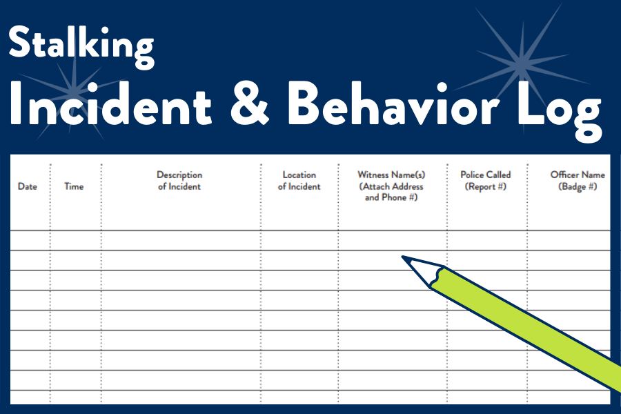 Incident and Behavior Log